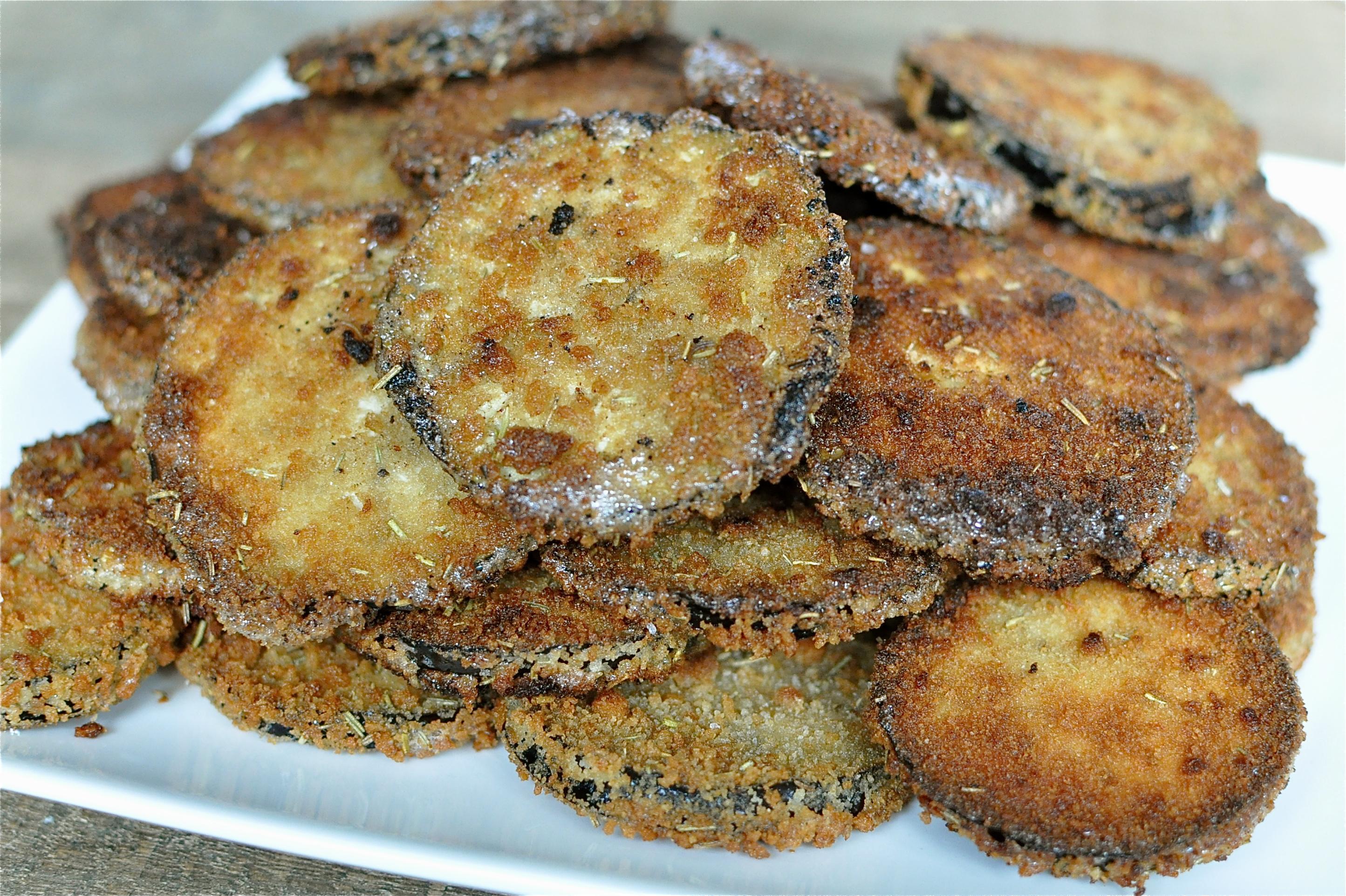 fried eggplant parmesan sandwich